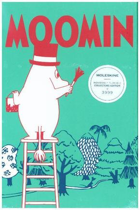 Moleskine Notizbuch - Mumins Sammelbox, Large, A5, Liniert, Textileinband, Türkis