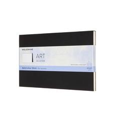 Moleskine Wasserfarbblock Large, A5, 200G-Aquarellpapier, Soft Cover, Schwarz