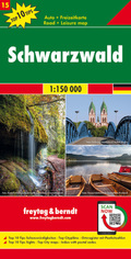 Freytag & Berndt Auto + Freizeitkarte Schwarzwald, 1:150.000, Top 10 Tips