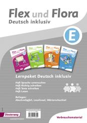 Flex und Flora - Deutsch inklusiv: Lernpaket Deutsch inklusiv E (Verbrauchsmaterial), 4 Hefte