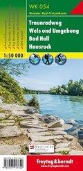 Freytag & Berndt Wander-, Rad- und Freizeitkarte Traunradweg - Wels und Umgebung - Bad Hall - Hausruck, 1:50.000