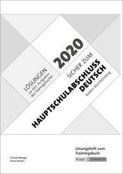 Sicher zum Hauptschulabschluss Deutsch Baden-Württemberg 2020