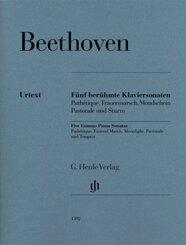 Fünf berühmte Klaviersonaten