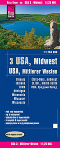 Reise Know-How Landkarte USA, Mittlerer Westen / USA, Midwest (1:1.250.000) : Illinois, Indiana, Iowa, Michigan, Minneso