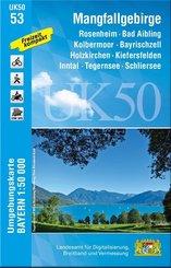Topographische Karte Bayern Mangfallgebirge