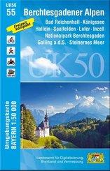 Topographische Karte Bayern Berchtesgadener Alpen