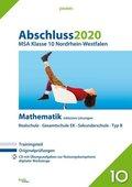 Abschluss 2020 - MSA Klasse 10 Nordrhein-Westfalen Mathematik, m. CD-ROM