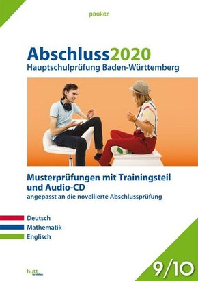 Abschluss 2020 - Hauptschulprüfung Baden-Württemberg, m. Audio-CD