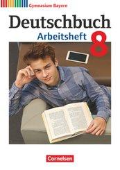 Deutschbuch, Gymnasium Bayern, Neubearbeitung: 8. Jahrgangsstufe - Arbeitsheft mit Lösungen