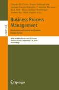 Business Process Management: Blockchain and Central and Eastern Europe Forum