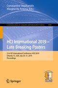 HCI International 2019 - Late Breaking Posters