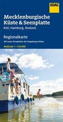 ADAC Regionalkarte Deutschland Mecklenburgische Küste & Seenplatte