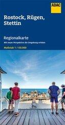 ADAC Regionalkarte Rostock, Rügen, Stettin 1:150 000