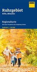 ADAC Regionalkarte Ruhrgebiet, Köln, Münster 1:150 000