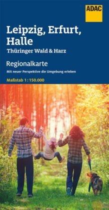 ADAC Regionalkarte Leipzig, Erfurt, Halle
