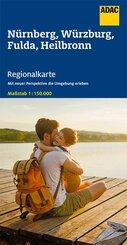 ADAC Regionalkarte Nürnberg, Würzburg, Fulda, Heilbronn 1:150 000