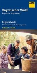 ADAC Regionalkarte Bayerischer Wald, Bayreuth, Regensburg 1:150 000