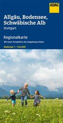 ADAC Regionalkarte Allgäu, Bodensee, Schwäbische Alb 1:150 000