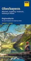 ADAC Regionalkarte Oberbayern, München, Augsburg, Innsbruck