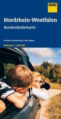 ADAC BundesländerKarte Deutschland Nordrhein-Westfalen 1:300 000