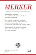 MERKUR Deutsche Zeitschrift für europäisches Denken - .844