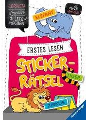 Erstes Lesen Sticker-Rätsel