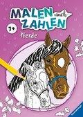 Malen nach Zahlen ab 7 Jahren: Pferde