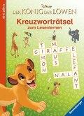 Disney Der König der Löwen: Kreuzworträtsel zum Lesenlernen