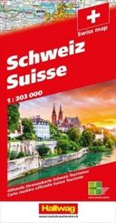 Hallwag Straßenkarte  Schweiz 2020 1:303 000