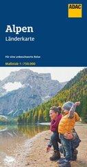 ADAC LänderKarte Alpen 1:750 000