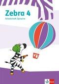 Zebra. Ausgabe ab 2018: 4. Schuljahr, Arbeitsheft Sprache