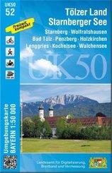 Topographische Karte Tölzer Land, Starnberger See