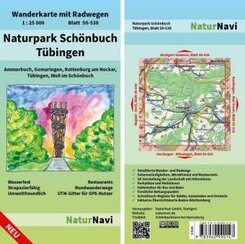 NaturNavi Wanderkarte mit Radwegen Naturpark Schönbuch - Tübingen