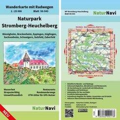 NaturNavi Wanderkarte mit Radwegen Naturpark Stromberg-Heuchelberg