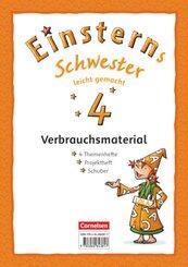Einsterns Schwester, Sprache und Lesen, Neubearbeitung (2015): 4. Schuljahr, Leicht gemacht, Themenheft 1-4 und Projektheft (Verbrauchsmaterial), 5 Bde.