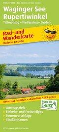 PUBLICPRESS Rad- und Wanderkarte Waginger See, Rupertiwinkel, Tittmoning - Freilassing -Laufen
