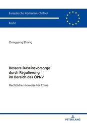 Bessere Daseinsvorsorge durch Regulierung im Bereich des ÖPNV