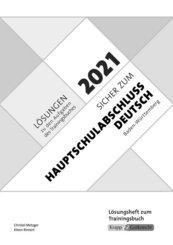 Sicher zum Hauptschulabschluss Deutsch Baden-Württemberg 2021 - Lösungen