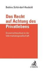 Das Recht auf Achtung des Privatlebens