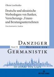 Deutsche und ukrainische Werbeslogans von Banken,Versicherungs-, Finanz und Beratungsunternehmen