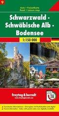freytag & berndt Auto + Freizeitkarte Schwarzwald - Schwäbische Alb - Bodensee, Autokarte 1:150.000