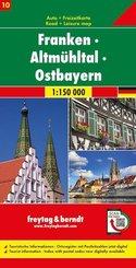freytag & berndt Auto + Freizeitkarte Franken - Altmühltal - Ostbayern, Autokarte 1:150 000