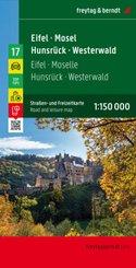 freytag & berndt Auto + Freizeitkarte Eifel - Mosel - Hunsrück - Westerwald, Autokarte 1:150.000