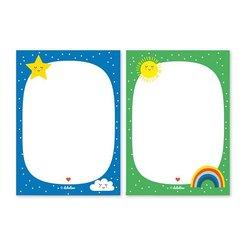 Notizblock-Set: Regenbogen (für Kinder)