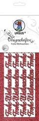 """URSUS Designschriften """"Frohe Weihnachten"""", rubinrot"""