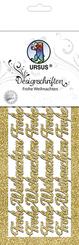 """URSUS Designschriften """"Frohe Weihnachten"""", gold"""