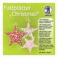 """URSUS Faltblätter """"Christmas"""", 10 x 10 cm"""