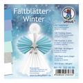 """URSUS Tonzeichenpapier-Faltblätter """"Winter"""", 10 x 10 cm"""
