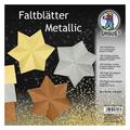 """URSUS Tonzeichenpapier-Faltblätter """"Metallic"""", 20 x 20 cm"""