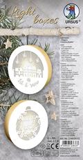 """URSUS Light boxes """"Village & Christmas Bauble"""", Ø 11 cm"""